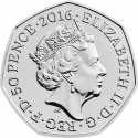 50 Pence 2016, Sp# H36, United Kingdom (Great Britain), Elizabeth II, 150th Anniversary of the Birth of Beatrix Potter, Mrs. Tiggy-Winkle