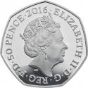 50 Pence 2016, United Kingdom (Great Britain), Elizabeth II, 150th Anniversary of the Birth of Beatrix Potter, Mrs. Tiggy-Winkle