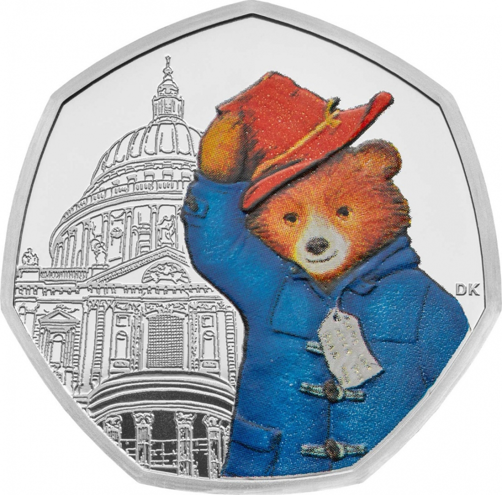 50 Pence 2019, United Kingdom (Great Britain), Elizabeth II, 60th Anniversary of Paddington Bear, Paddington at St Paul's Cathedral