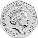 50 Pence 2016, Sp# H34, United Kingdom (Great Britain), Elizabeth II, 150th Anniversary of the Birth of Beatrix Potter, Peter Rabbit