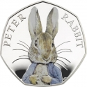 50 Pence 2016, United Kingdom (Great Britain), Elizabeth II, 150th Anniversary of the Birth of Beatrix Potter, Peter Rabbit