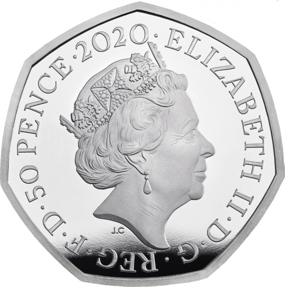 50 Pence 2020, United Kingdom (Great Britain), Elizabeth II, 150th Anniversary of Birth of Beatrix Potter, Peter Rabbit