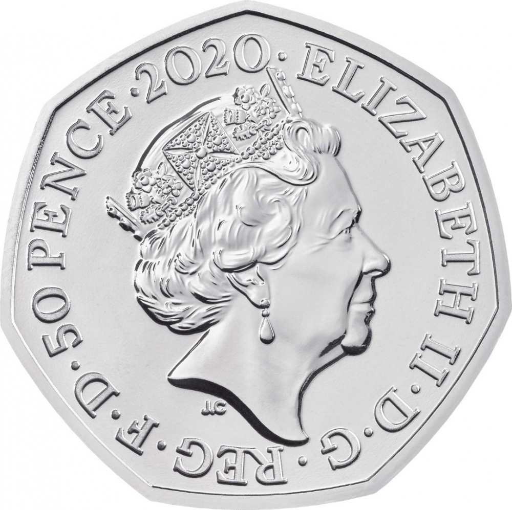 50 Pence 2020, United Kingdom (Great Britain), Elizabeth II, Winnie the Pooh and Friends, Piglet