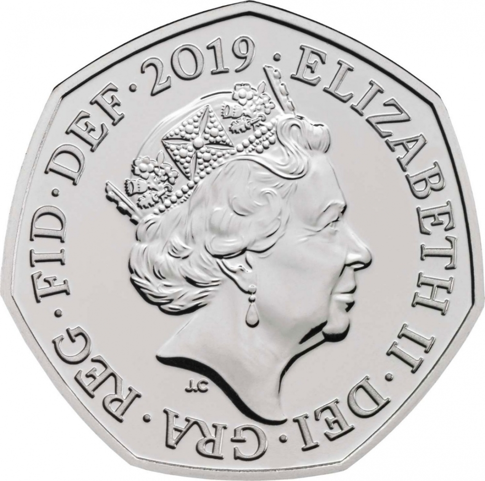 50 Pence 2019, United Kingdom (Great Britain), Elizabeth II, Celebrating 50 Years of the 50p, British Culture, Roger Bannister