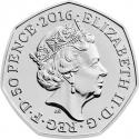 50 Pence 2016, Sp# H36, United Kingdom (Great Britain), Elizabeth II, 150th Anniversary of the Birth of Beatrix Potter, Squirrel Nutkin