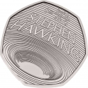 50 Pence 2019, United Kingdom (Great Britain), Elizabeth II, Innovators in Science, Stephen Hawking