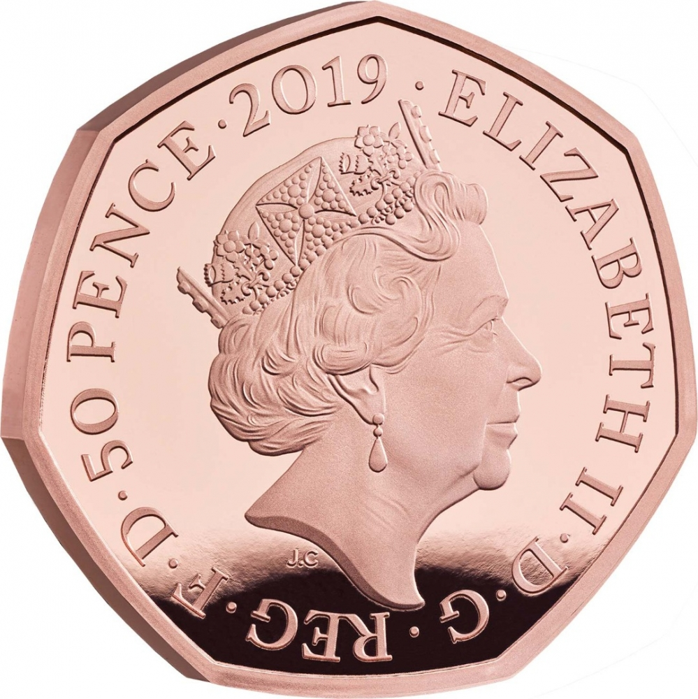 50 Pence 2019, United Kingdom (Great Britain), Elizabeth II, 20th Anniversary of The Gruffalo, The Gruffalo and Mouse