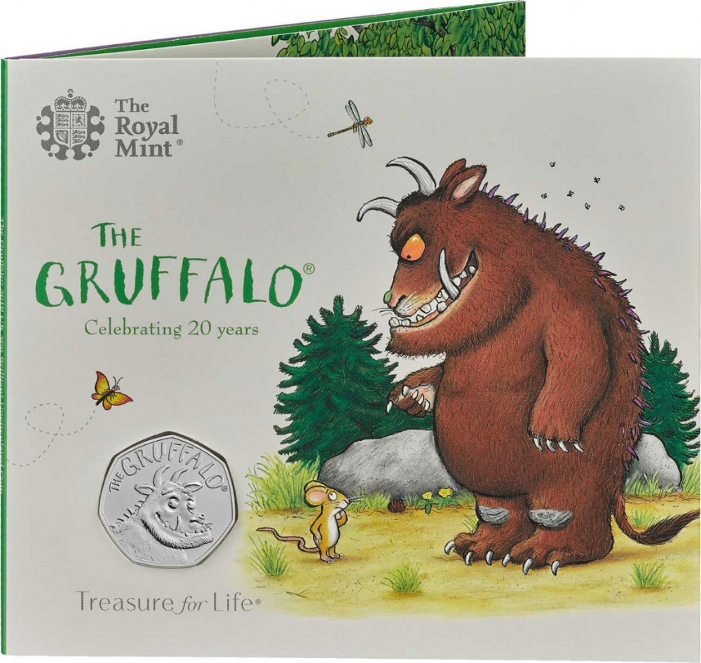 50 Pence 2019, United Kingdom (Great Britain), Elizabeth II, 20th Anniversary of The Gruffalo, Fold-out packaging