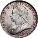 6 Pence 1893-1901, KM# 779, United Kingdom (Great Britain), Victoria