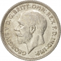 6 Pence 1927-1936, KM# 832, United Kingdom (Great Britain), George V
