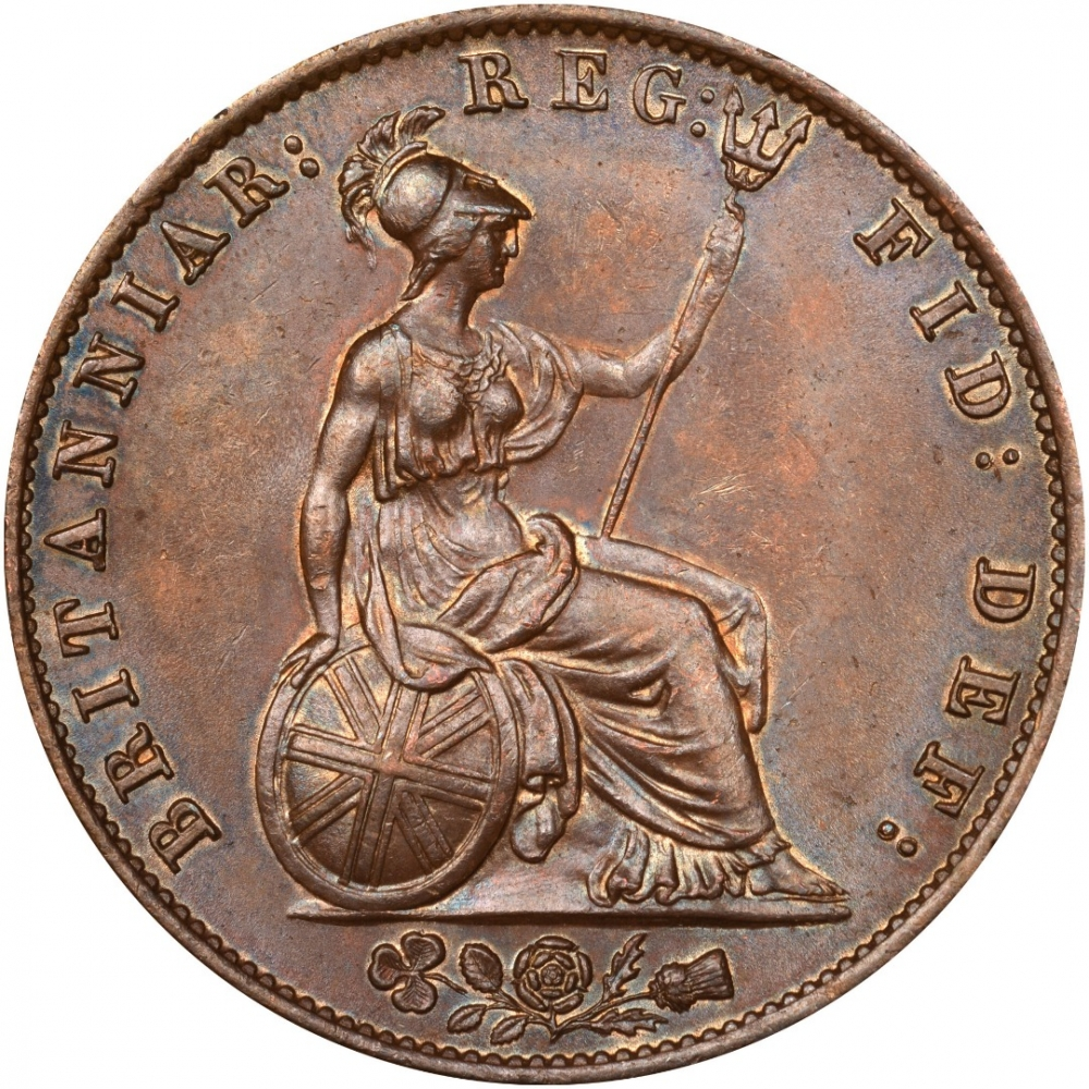 1/2 Penny 1838-1860, KM# 726, United Kingdom (Great Britain), Victoria