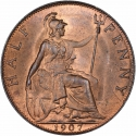 1/2 Penny 1902-1910, KM# 793, United Kingdom (Great Britain), Edward VII