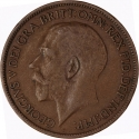 1/2 Penny 1911-1925, KM# 809, United Kingdom (Great Britain), George V