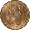 1/2 Penny 1953, KM# 882, United Kingdom (Great Britain), Elizabeth II