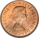 1/2 Penny 1954-1970, KM# 896, United Kingdom (Great Britain), Elizabeth II
