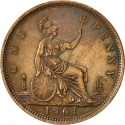 1 Penny 1860-1874, KM# 749, United Kingdom (Great Britain), Victoria