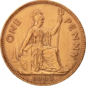 1 Penny 1954-1970, KM# 897, United Kingdom (Great Britain), Elizabeth II