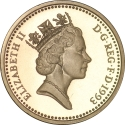 1 Pound 1993, KM# 964, United Kingdom (Great Britain), Elizabeth II, Heraldic Emblems, Royal Arms