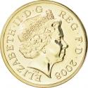 1 Pound 2008-2015, KM# 1113, United Kingdom (Great Britain), Elizabeth II
