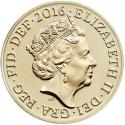 1 Pound 2015-2016, Sp# J36, United Kingdom (Great Britain), Elizabeth II