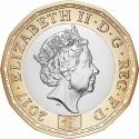 1 Pound 2017, United Kingdom (Great Britain), Elizabeth II