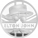 1 Pound 2020, United Kingdom (Great Britain), Elizabeth II, Music Legends, Elton John