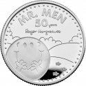 1 Pound 2021, United Kingdom (Great Britain), Elizabeth II, 50th Anniversary of the Mr. Men & Little Miss, Mr. Happy