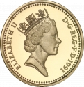 1 Pound 1986-1991, KM# 946, United Kingdom (Great Britain), Elizabeth II, Royal Diadem, Northern Irish Flax