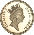 1 Pound 1994, KM# 967, United Kingdom (Great Britain), Elizabeth II, Heraldic Emblems, Scottish Lion