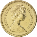 1 Pound 1984, KM# 934, United Kingdom (Great Britain), Elizabeth II, Royal Diadem, Scottish Thistle