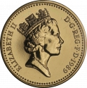 1 Pound 1989, KM# 959, United Kingdom (Great Britain), Elizabeth II, Royal Diadem, Scottish Thistle