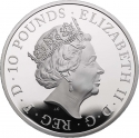 10 Pounds 2020, United Kingdom (Great Britain), Elizabeth II, Chinese Zodiac, Year of the Rat