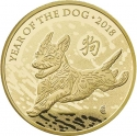 100 Pounds 2018, United Kingdom (Great Britain), Elizabeth II, Chinese Zodiac, Year of the Dog