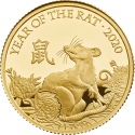 100 Pounds 2020, United Kingdom (Great Britain), Elizabeth II, Chinese Zodiac, Year of the Rat