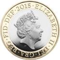 2 Pounds 2015-2017, Sp# K37, United Kingdom (Great Britain), Elizabeth II