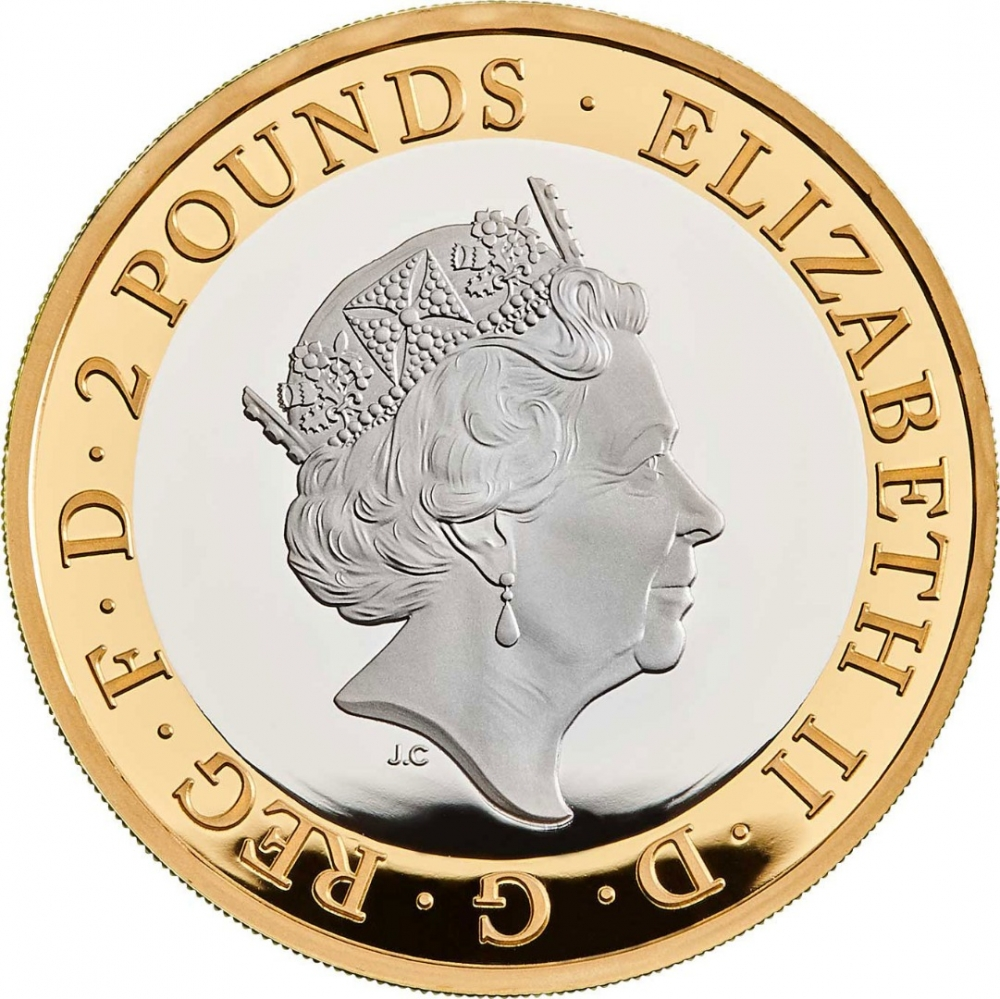 2 Pounds 2019, United Kingdom (Great Britain), Elizabeth II, 350th Anniversary of the Final Entry of Samuel Pepys Diary