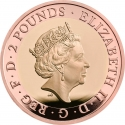2 Pounds 2019, United Kingdom (Great Britain), Elizabeth II, 75th Anniversary of D-Day
