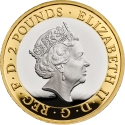 2 Pounds 2021, United Kingdom (Great Britain), Elizabeth II, 75th Anniversary of Death of H. G. Wells