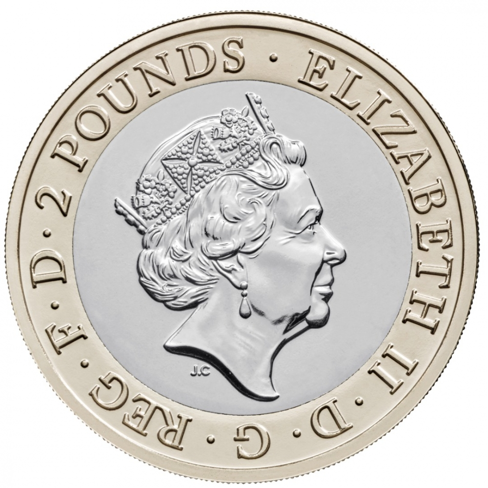 2 Pounds 2020, United Kingdom (Great Britain), Elizabeth II, 250th Anniversary of Captain James Cook's Voyage of Discovery, Captain Cook's Exploration of Australasia