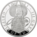 2 Pounds 2021, United Kingdom (Great Britain), Elizabeth II, Queen's Beasts, Griffin of Edward III