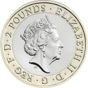 2 Pounds 2016, Sp# K38, United Kingdom (Great Britain), Elizabeth II, 400th Anniversary of the Death of William Shakespeare, Shakespeare Comedies