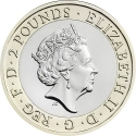 2 Pounds 2016, Sp# K39, United Kingdom (Great Britain), Elizabeth II, 400th Anniversary of the Death of William Shakespeare, Shakespeare Histories