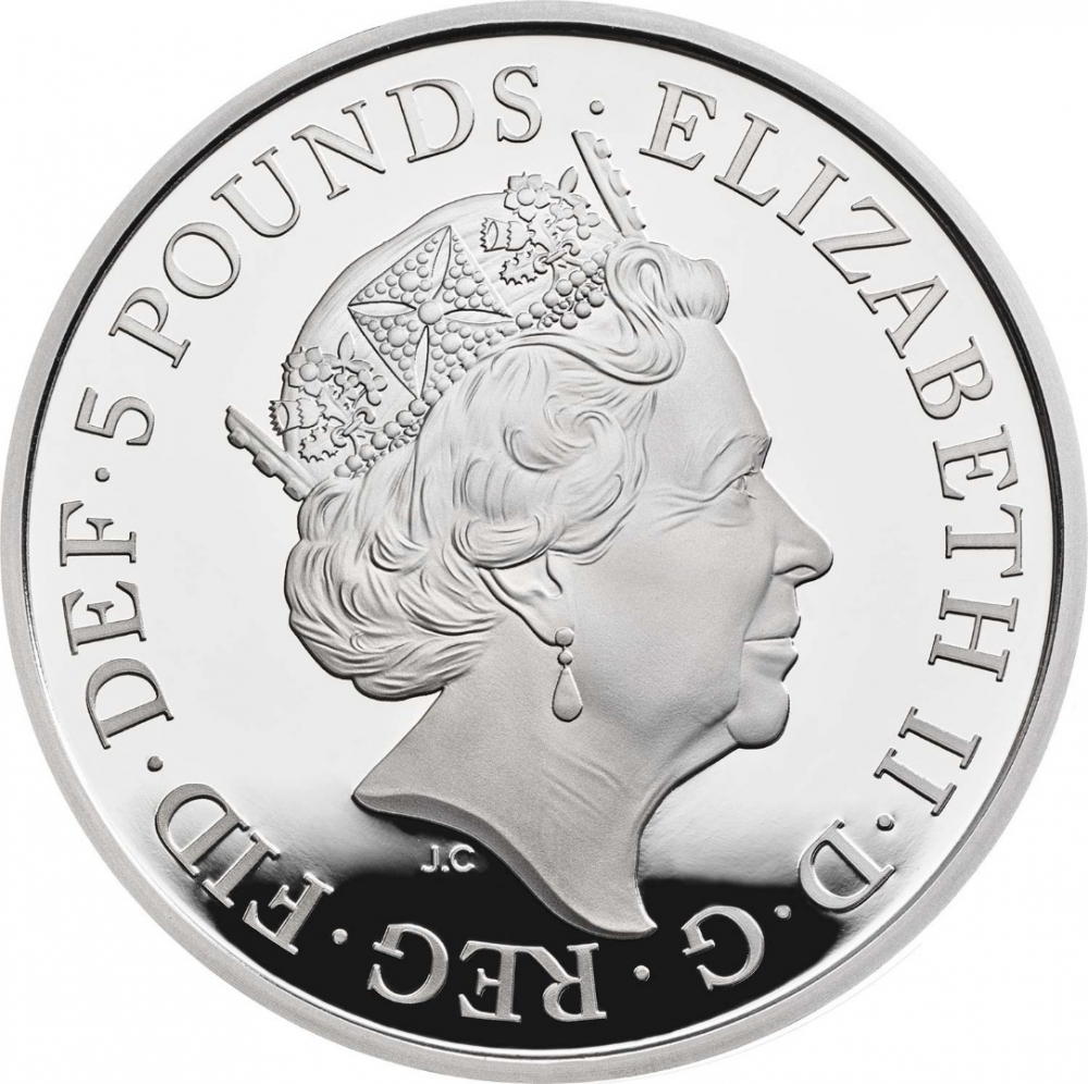 5 Pounds 2019, United Kingdom (Great Britain), Elizabeth II, Remembrance Day, 100 Anniversary of Remembrance Day