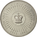 5 Pounds 1993, KM# 965, United Kingdom (Great Britain), Elizabeth II, 40th Anniversary of Coronation of Elizabeth II