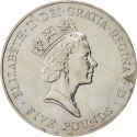 5 Pounds 1996, KM# 974, United Kingdom (Great Britain), Elizabeth II, 70th Anniversary of Birth of Elizabeth II