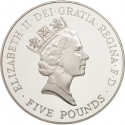 5 Pounds 1996, KM# 974a, United Kingdom (Great Britain), Elizabeth II, 70th Anniversary of Birth of Elizabeth II