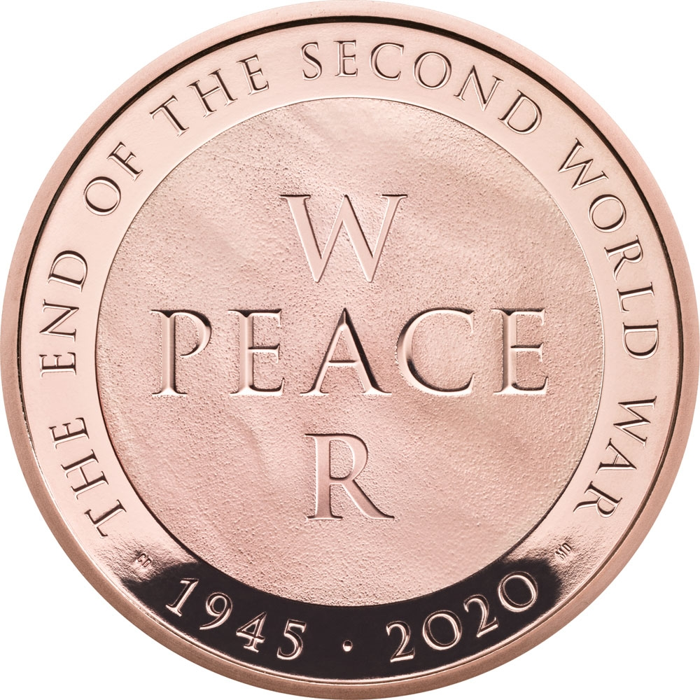 5 Pounds 2020, United Kingdom (Great Britain), Elizabeth II, 75th Anniversary of WWII End
