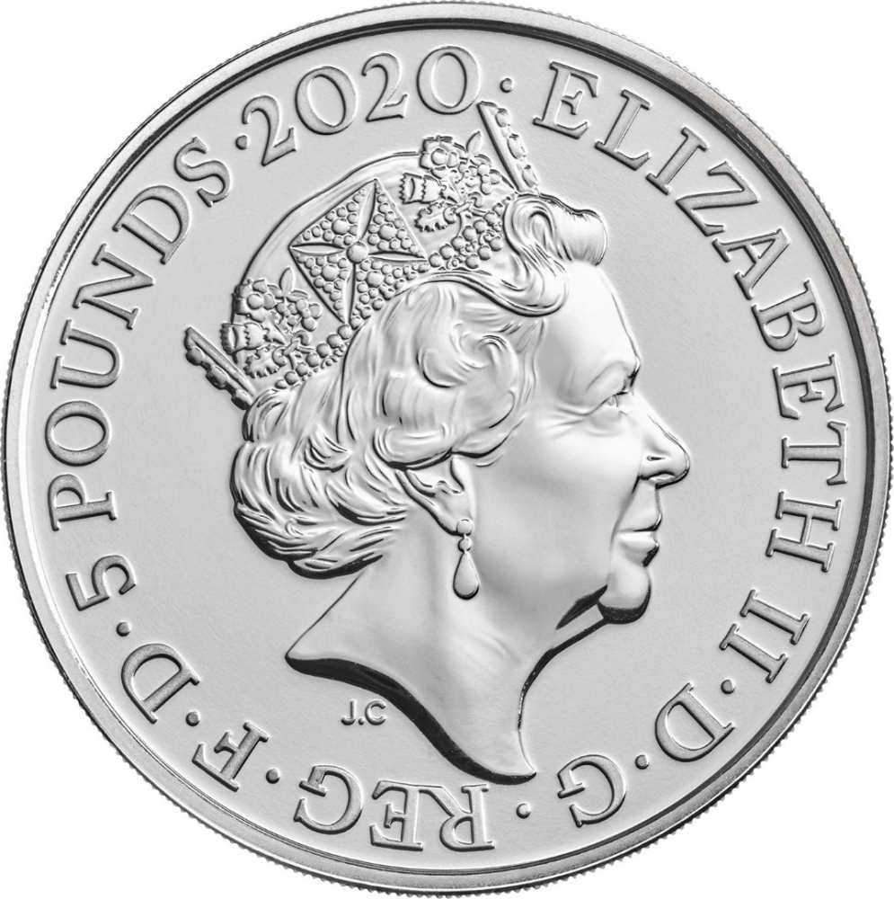5 Pounds 2020, United Kingdom (Great Britain), Elizabeth II, 200th Anniversary of Death of George III