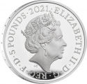 5 Pounds 2021, United Kingdom (Great Britain), Elizabeth II, 50th Anniversary of the Royal Albert Hall
