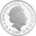 5 Pounds 2020, United Kingdom (Great Britain), Elizabeth II, James Bond, Aston Martin DB5